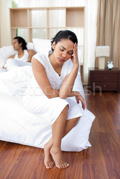 Woman getting fed up with her husband Stock photo © wavebreak_media