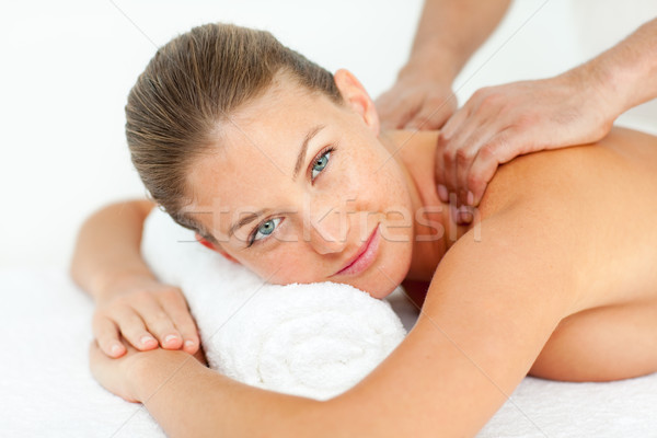 Calm woman enjoying a massage Stock photo © wavebreak_media