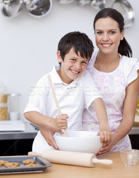 Mother and son baking in the kitchen Stock photo © wavebreak_media