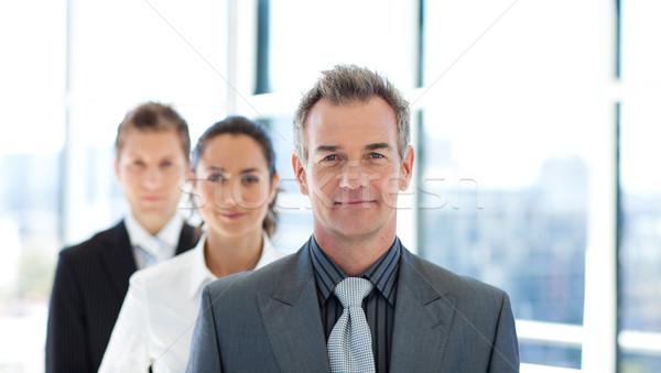 дружественный бизнесмен ведущий бизнес-команды старший бизнеса Сток-фото © wavebreak_media