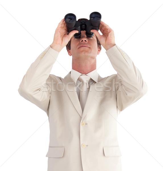 ビジネスマン 双眼鏡 男 スーツ 将来 時計 ストックフォト © wavebreak_media