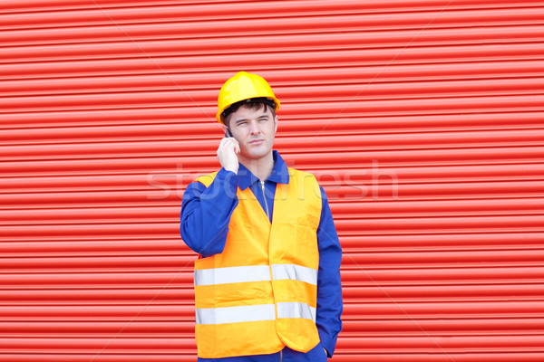 Attractive male engineer standing  Stock photo © wavebreak_media