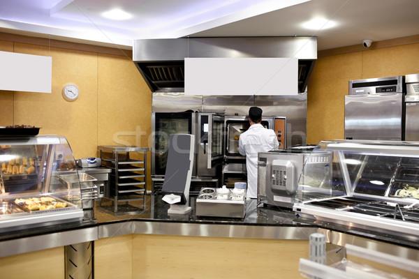 Keuken bakker baguettes cafetaria man Stockfoto © wavebreak_media