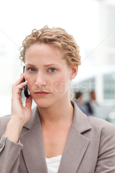 Belle femme d'affaires bureau sourire réunion heureux Photo stock © wavebreak_media
