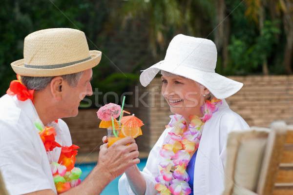 Gelukkig drinken cocktails ander Stockfoto © wavebreak_media