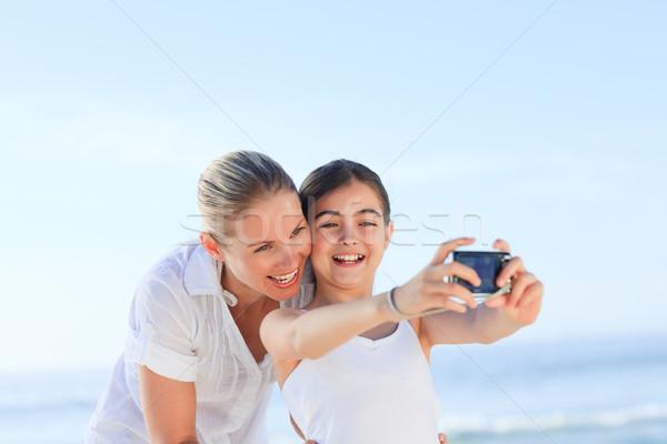 Meisje foto moeder vrouw zomer Stockfoto © wavebreak_media
