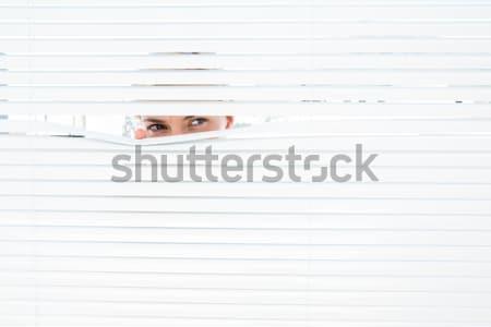 деловая женщина из окна служба лице волос Сток-фото © wavebreak_media