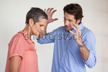 Eş ağlayan koca beyaz sevmek adam Stok fotoğraf © wavebreak_media