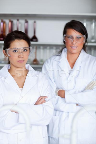 Portrait of female science students posing in a laboratory Stock photo © wavebreak_media
