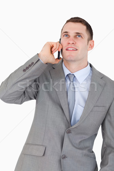 Geschäftsmann Telefon nachschlagen weiß Telefon Stock foto © wavebreak_media