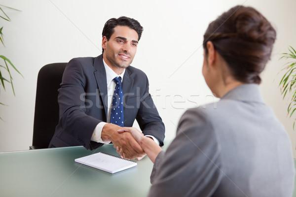 Uśmiechnięty kierownik kobiet wnioskodawca biuro działalności Zdjęcia stock © wavebreak_media