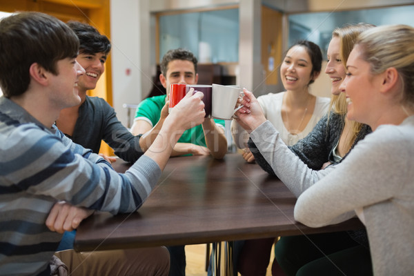 Mensen vergadering coffeeshop glimlachend glimlach Stockfoto © wavebreak_media