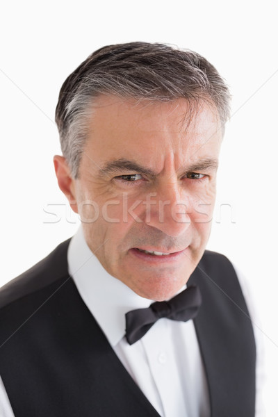 Arrabbiato cameriere bianco servizio shirt maschio Foto d'archivio © wavebreak_media