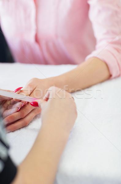 女性 爪 クローズアップ 手 マニキュア 指 ストックフォト © wavebreak_media