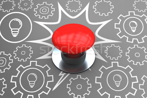Composite image of digitally generated red push button Stock photo © wavebreak_media