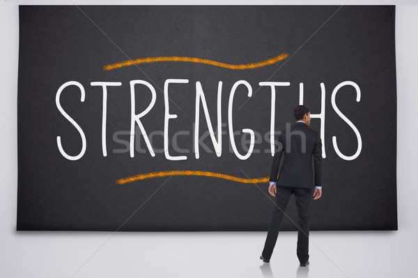 Businessman reading the word strengths Stock photo © wavebreak_media