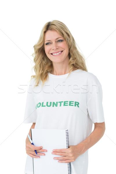 肖像 笑みを浮かべて 小さな 女性 白 ストックフォト © wavebreak_media