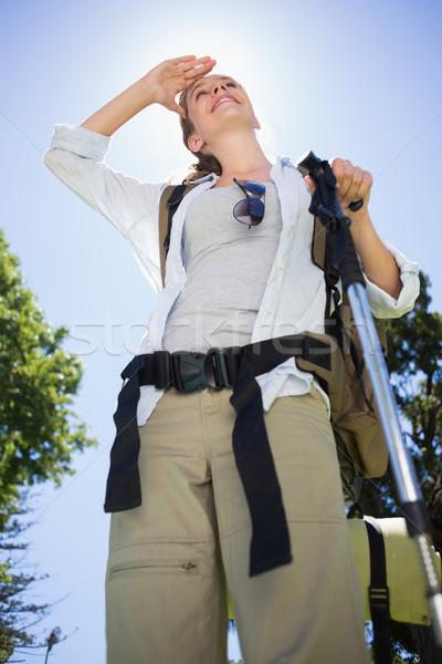 соответствовать женщину Постоянный походов полюс парка Сток-фото © wavebreak_media