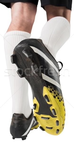 Fútbol botas blanco negro zapato Foto stock © wavebreak_media