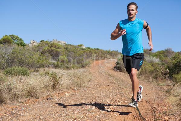 спортивный человека бег стране тропе Сток-фото © wavebreak_media