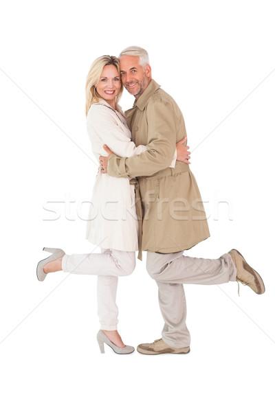 Mutlu çift poz siper kadın kadın Stok fotoğraf © wavebreak_media