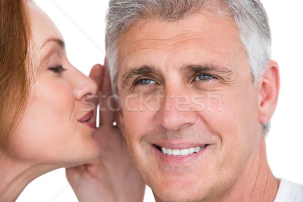 Woman telling secret to her partner Stock photo © wavebreak_media