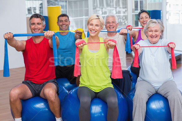 люди сопротивление спортзал класс портрет Сток-фото © wavebreak_media