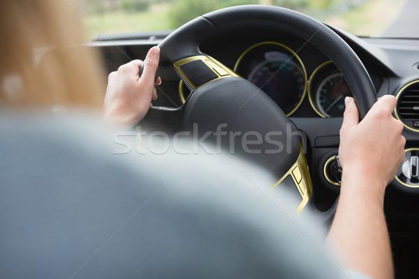 руль женщину рук автомобилей черный драйвера Сток-фото © wavebreak_media