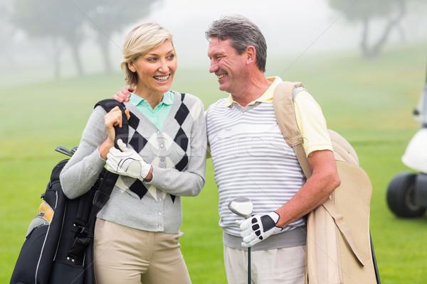Golf çift gülen gün Stok fotoğraf © wavebreak_media