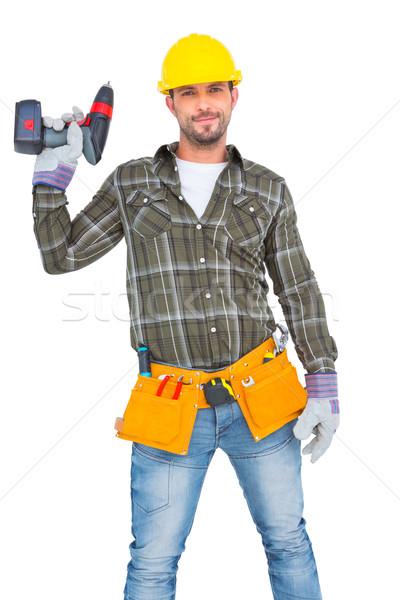 Klusjesman tool gordel macht Stockfoto © wavebreak_media