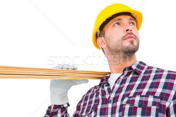 мастер на все руки древесины доски белый человека Сток-фото © wavebreak_media