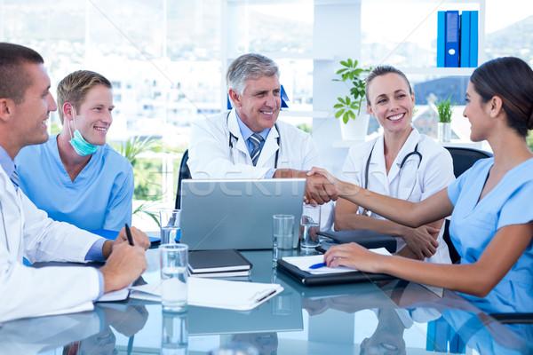 команда врачи заседание медицинской служба человека Сток-фото © wavebreak_media