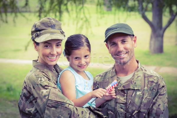 Esercito genitori figlia donna ragazza Foto d'archivio © wavebreak_media