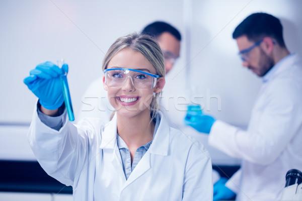 Ciência estudante test tube universidade escolas Foto stock © wavebreak_media