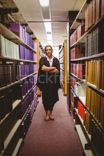 弁護士 立って ライブラリ 女性 ストックフォト © wavebreak_media