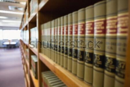 法 レポート ライブラリ 図書 学校 ストックフォト © wavebreak_media