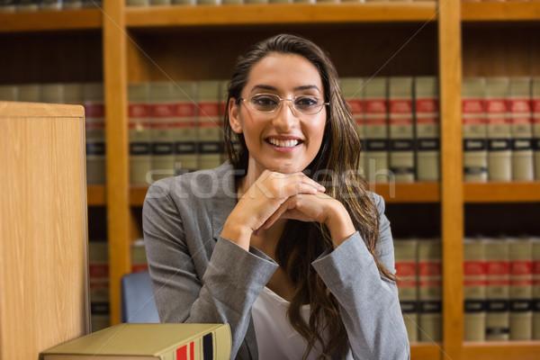 Csinos ügyvéd törvény könyvtár egyetem könyv Stock fotó © wavebreak_media
