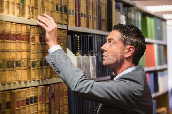 ügyvéd szőlőszüret könyv törvény könyvtár egyetem Stock fotó © wavebreak_media