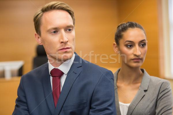 Popa advogados olhando à frente tribunal quarto Foto stock © wavebreak_media