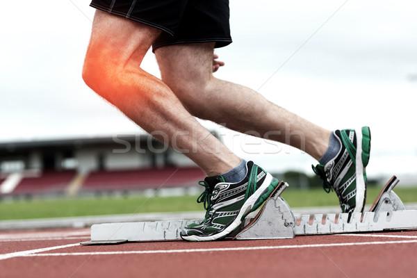 Ginocchio uomo gara composito digitale mani fitness Foto d'archivio © wavebreak_media
