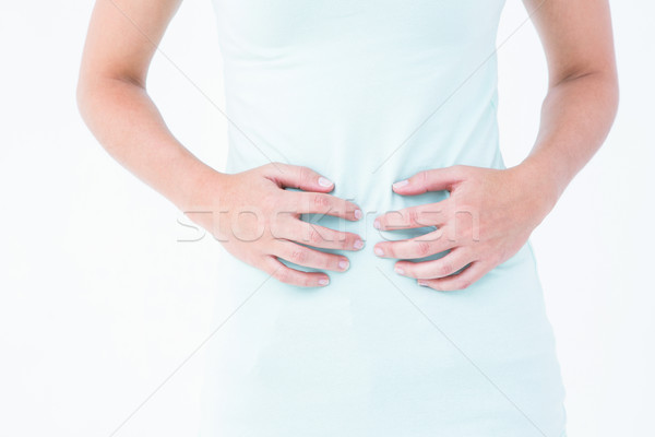 Mulher sofrimento estômago dor branco corpo Foto stock © wavebreak_media
