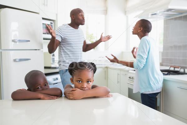 Para argument kuchnia dziecko matka chłopca Zdjęcia stock © wavebreak_media