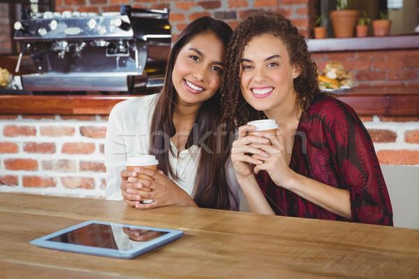 довольно женщины друзей кофе Сток-фото © wavebreak_media