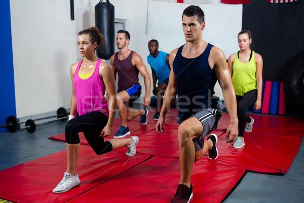 молодые осуществлять фитнес студию Сток-фото © wavebreak_media