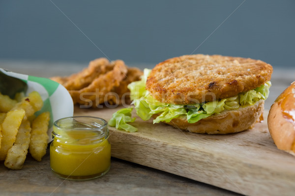Close up of burger with lettuce Stock photo © wavebreak_media
