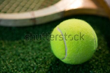 Balle de tennis raquette domaine affaires sport Photo stock © wavebreak_media