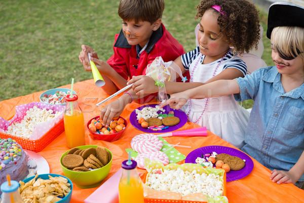 High angle view of children having food Stock photo © wavebreak_media