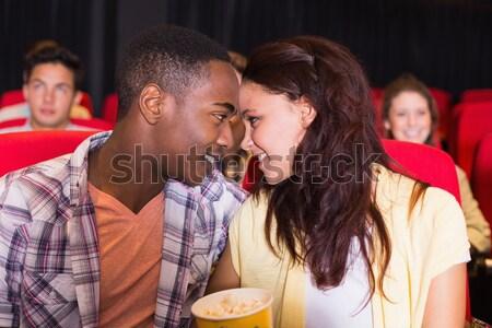 Feliz casal adormecido teatro homem filme Foto stock © wavebreak_media