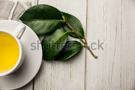Cup of herbal tea on table Stock photo © wavebreak_media
