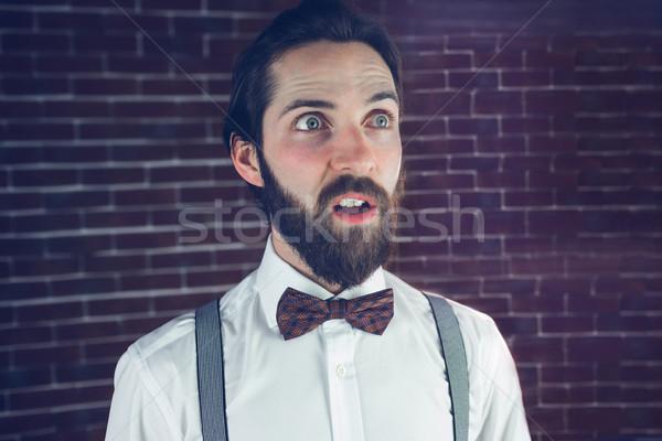 混乱 男 レンガの壁 ライフスタイル 白人 ストックフォト © wavebreak_media